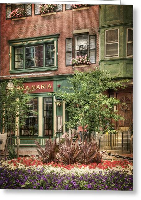 Old North End - North Square - Boston Greeting Card