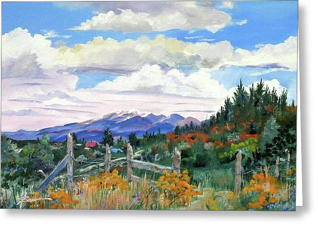 Old North Fence-in Colorado Greeting Card