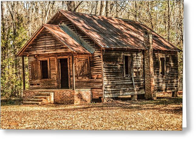 Old One Room School House Greeting Card by Phillip Burrow