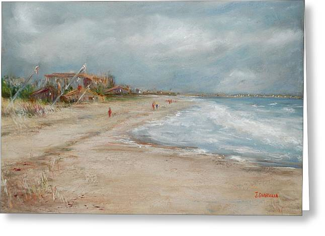 Old Orchard Beach Greeting Card by Joyce A Guariglia