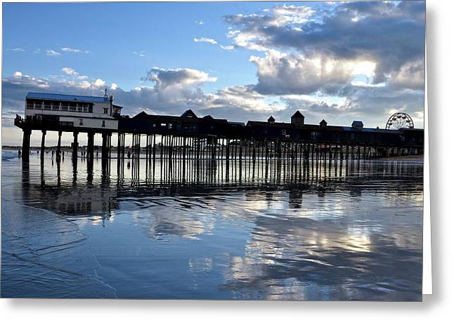 Old Orchard Beach Pier Greeting Card