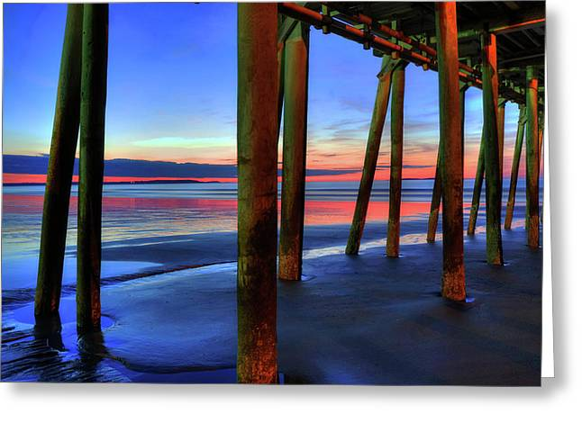 Greeting Card featuring the photograph Old Orchard Beach Pier -maine Coastal Art by Joann Vitali