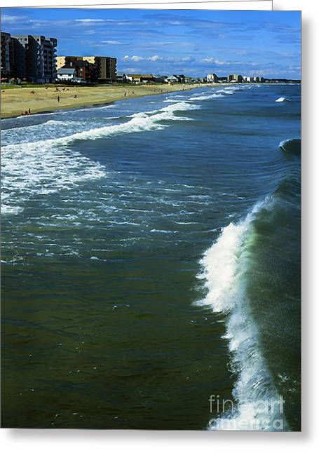 Old Orchard Beach Greeting Card by Thomas R Fletcher