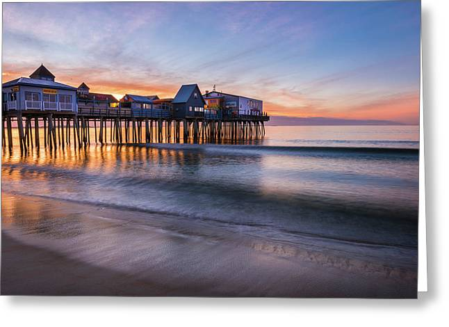 Old Orchard Beach Greeting Card by Thomas Schoeller