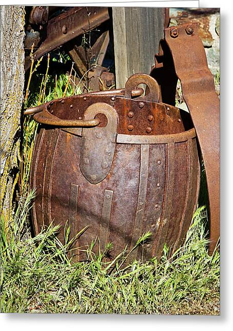 Old Ore Bucket Greeting Card