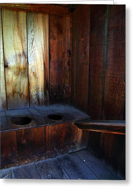 Old Outhouse Greeting Card
