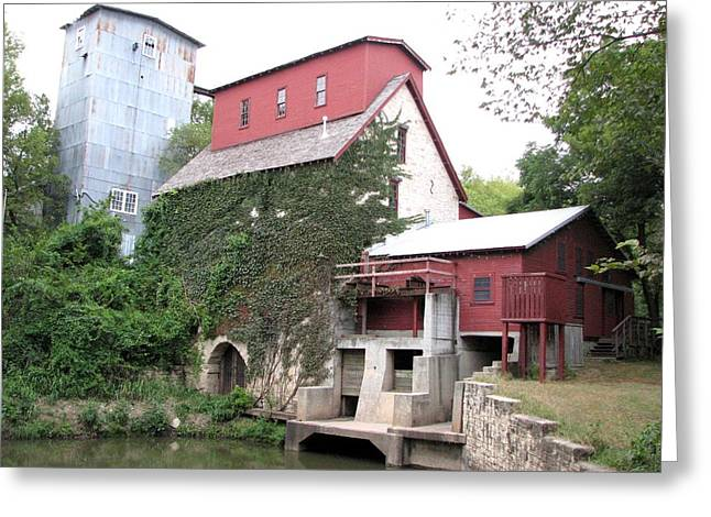 Old Oxford Mill Greeting Card