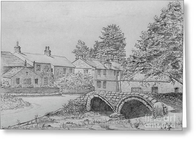 Old Packhorse Bridge Wycoller Greeting Card