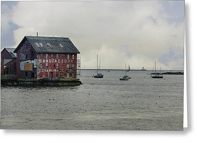 Old Paint Factory Gloucester Harbour Greeting Card by Tom Gari Gallery-Three-Photography
