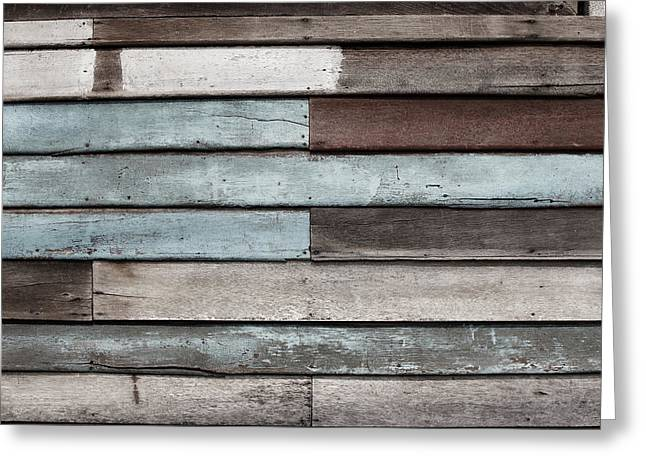 Old Pale Wood Wall Greeting Card