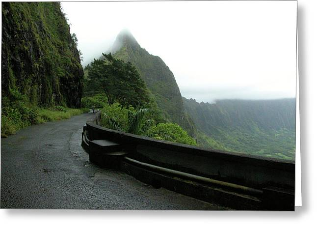 Greeting Card featuring the photograph Old Pali Road, Oahu, Hawaii by Mark Czerniec