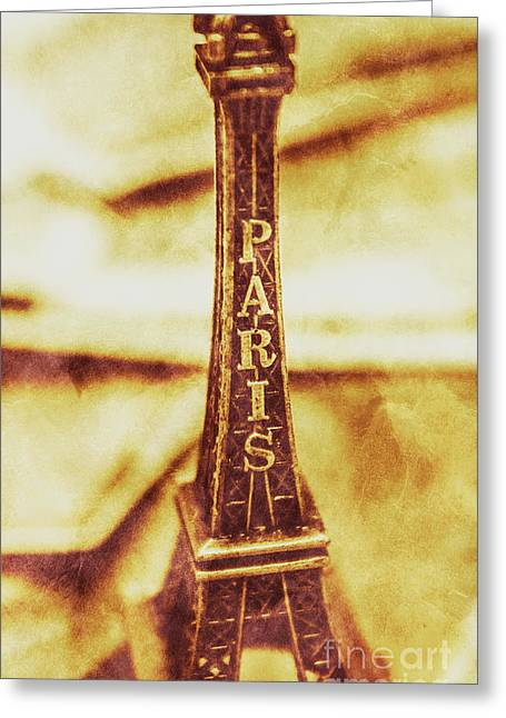 Old Paris Decor Greeting Card
