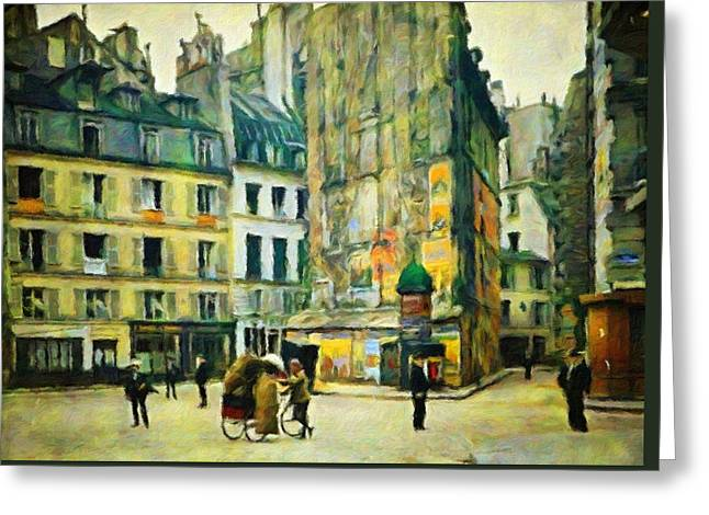 Old Paris Greeting Card by Vincent Monozlay