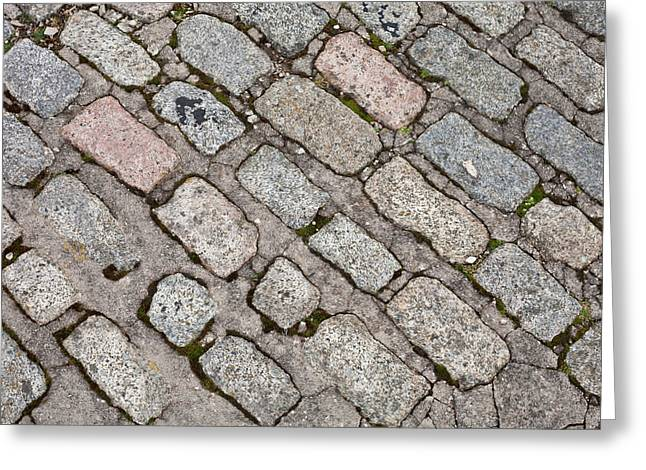 Old Paving Stones Greeting Card by Tom Gowanlock