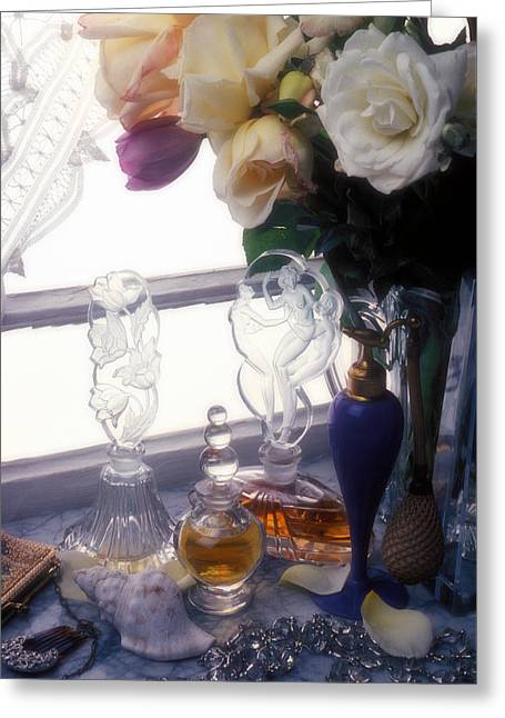 Old Perfume Bottles Greeting Card