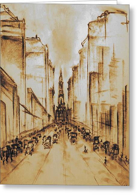 Old Philadelphia City Hall 1920 Greeting Card