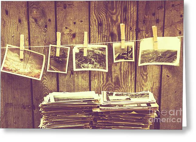 Old Photo Archive Greeting Card by Jorgo Photography - Wall Art Gallery