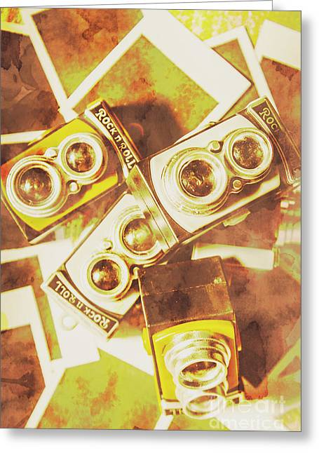 Old Photo Cameras Greeting Card by Jorgo Photography - Wall Art Gallery