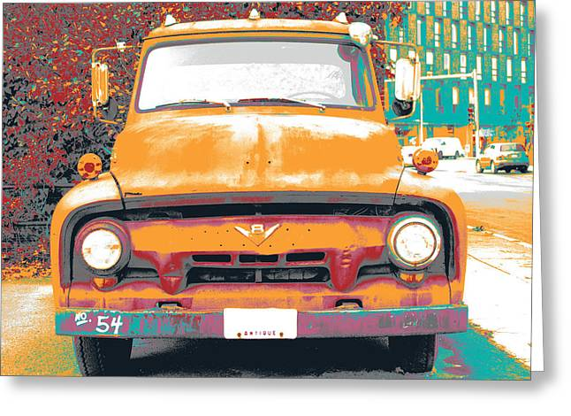 Old Pick Up Truck Greeting Card