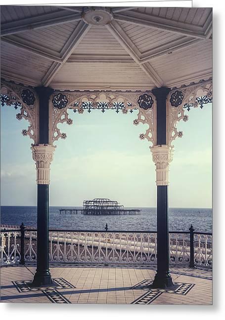 old pier Brighton Greeting Card