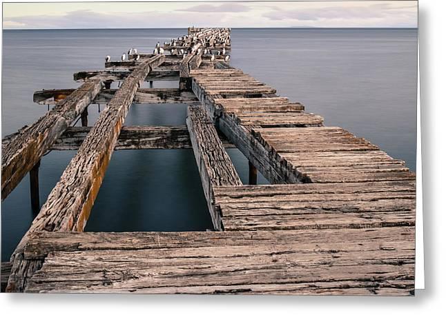 Old Pier In Punta Arenas Greeting Card