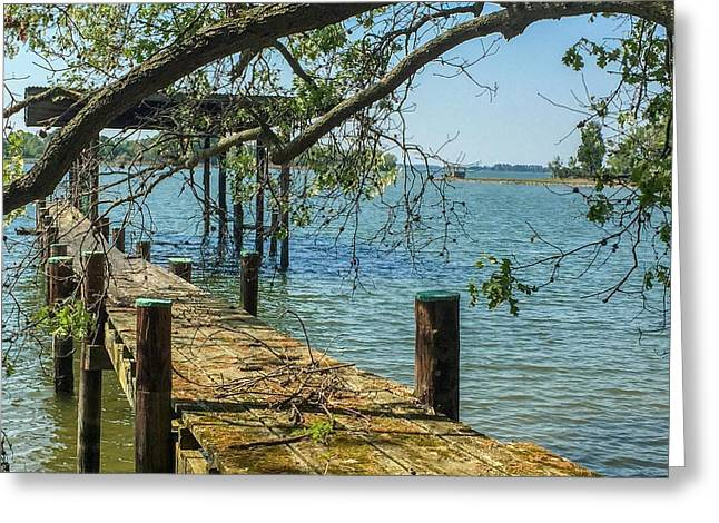 Old Pier On The Tred Avon Greeting Card