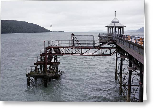 Old Pier Structure Greeting Card