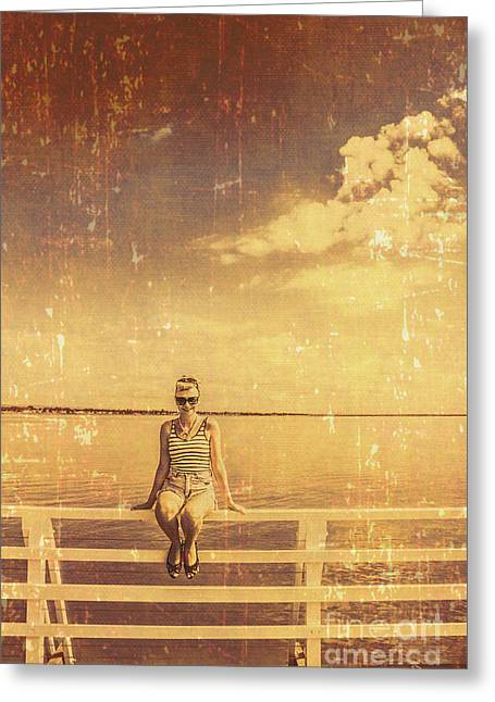 Old Pinup Girl Photo Greeting Card by Jorgo Photography - Wall Art Gallery