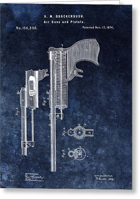 Old Pistol Patent Greeting Card by Dan Sproul