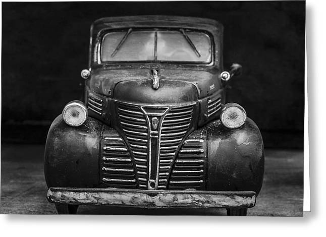 Old Plymouth Truck Square Greeting Card by Edward Fielding