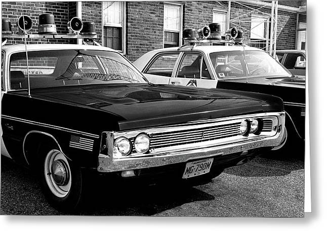 Old Police Car Greeting Card by Paul Seymour