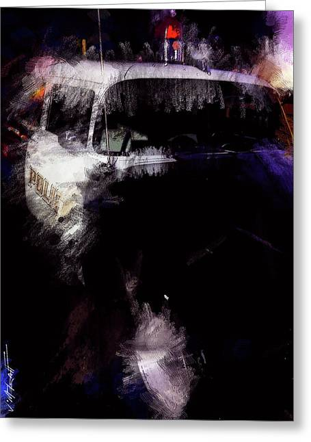 Old Police Cruiser Greeting Card by James Metcalf