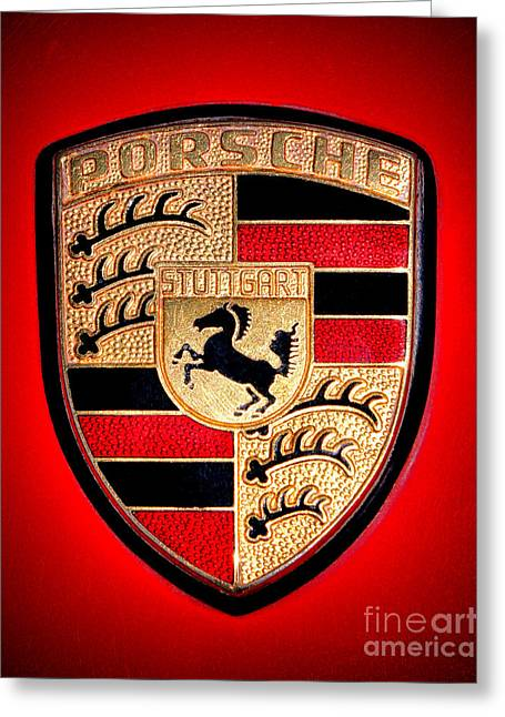 Old Porsche Badge Greeting Card