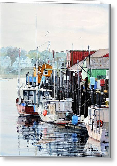 Old Port Greeting Card by Bill Hudson