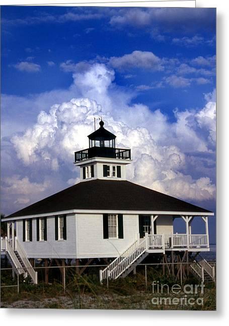 Old Port Boca Grande Lighthouse Fl Greeting Card by Skip Willits