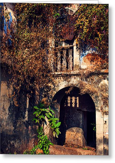 Old Portuguese House. Goa. India Greeting Card by Jenny Rainbow