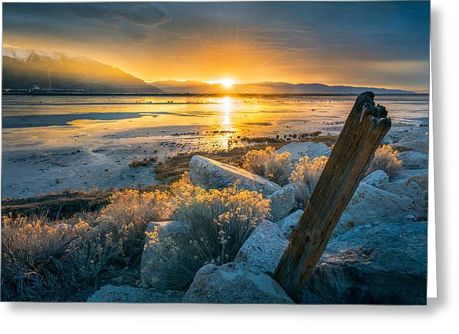 Old Post At The Great Salt Lake Greeting Card by James Udall