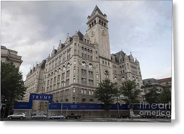 Old Post Office - Trump Hotel Greeting Card