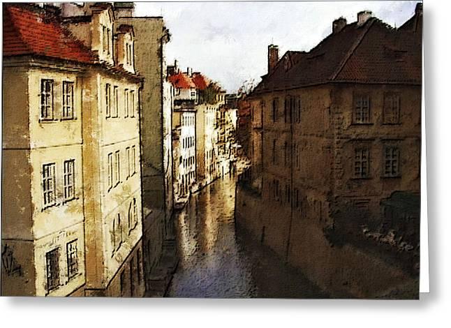 Old Prague Greeting Card by Jo-Anne Gazo-McKim