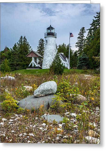 Old Presque Isle Lighthouse Greeting Card