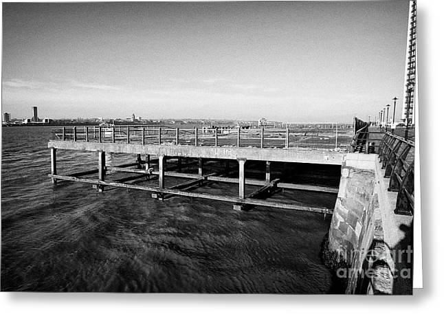 Old Princes Jetty Former Cattle Landing Stage Liverpool Docks Uk Greeting Card