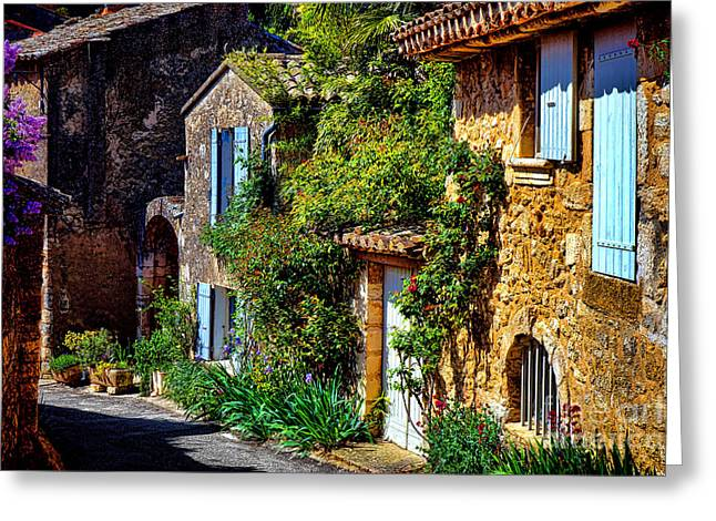 Old Provencal Village Street Greeting Card by Olivier Le Queinec