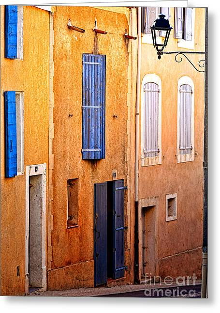 Old Provence Village Street Greeting Card