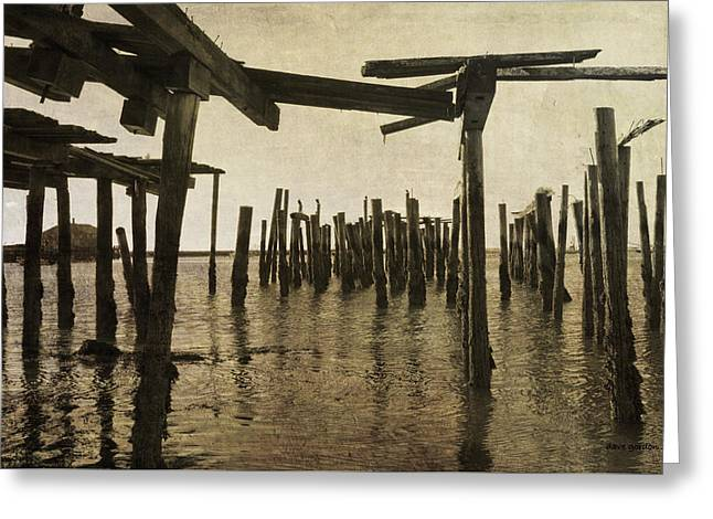 Old Provincetown Wharf Greeting Card by Dave Gordon