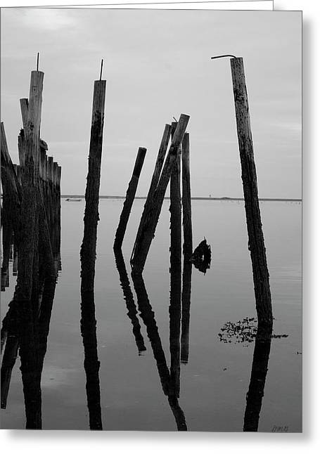 Old Provincetown Wharf II Bw Greeting Card by David Gordon