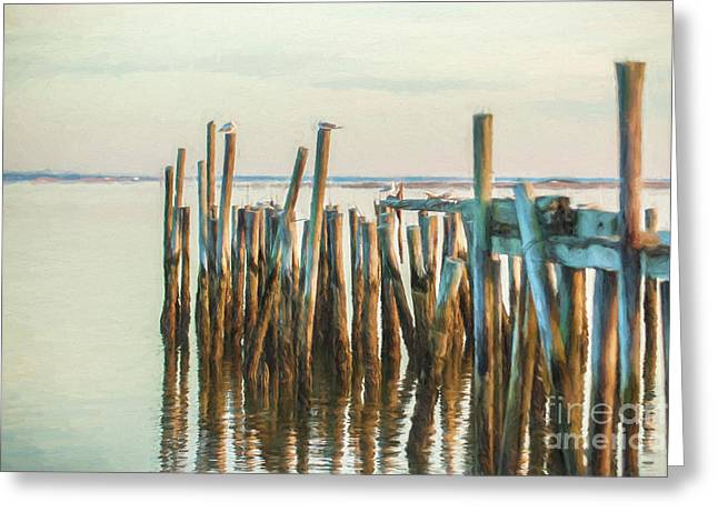 Old Provincetown Wharf Greeting Card