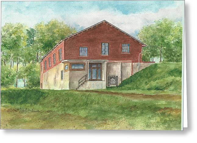 Old Pump House At The Mill Greeting Card