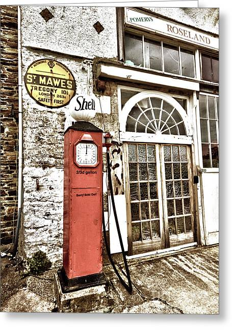 Old Pump St Mawes Greeting Card