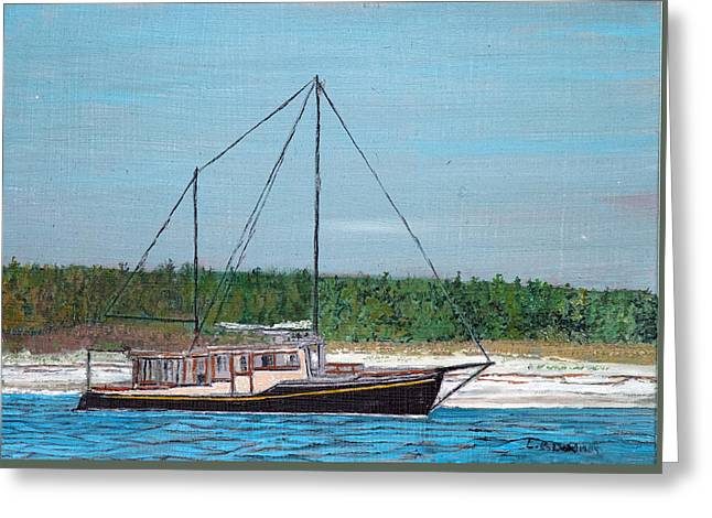 Old Pung In Maine Greeting Card by Laurence Dahlmer