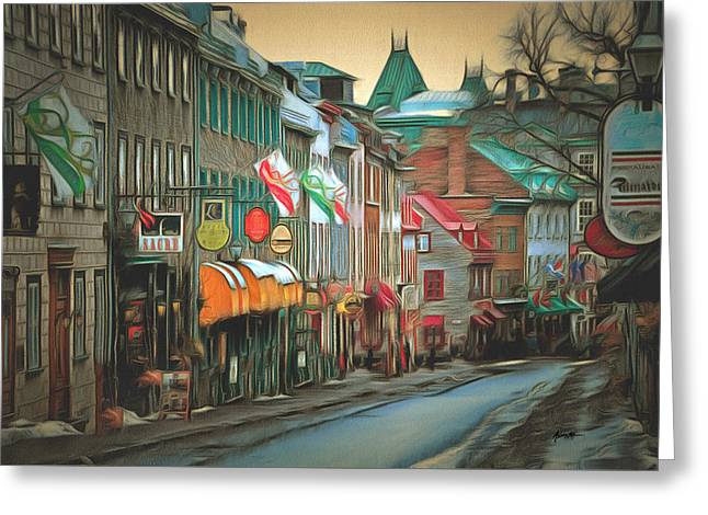 Old Quebec City Greeting Card by Anthony Caruso